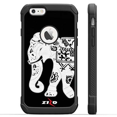 Zizo Dual Layer HYBRID Cover For iPhone 6 Plus / 6s Plus - Heavy Duty Hard Protective Case w/ UV Coating - Strong Shockproof And Durable