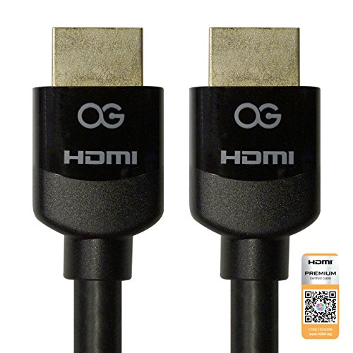 - Omnigates Certified Premium High Speed HDMI Cable with Ethernet supports 4K/UltraHD, BT.2020 and HDR, 6 Feet (1.8 Meter) Black