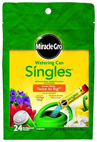 Miracle-Gro 1013202 Watering Can Singles - Includes 24 Pre-Measured Packets of Miracle-Gro All...