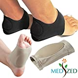 MEDIZED® Plantar Fasciitis Therapy Wrap Heel Foot Pain Arch Support Ankle Brace Insole Orthotic ... (Beige Arch Sleeve and Black Heel Wrap)
