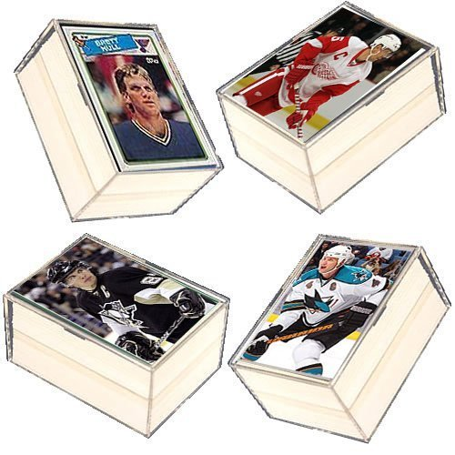 400 Card NHL Hockey Gift Set - w/ Superstars, Hall of Fame Players (Best Nhl Players Of All Time)