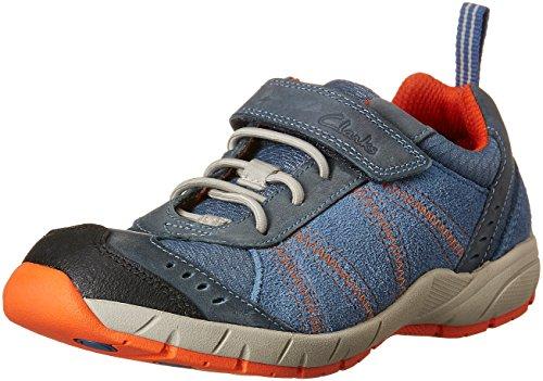 Clarks Junior Dash Jungen außerschulischen Kreuz Leder Schuhe Denim