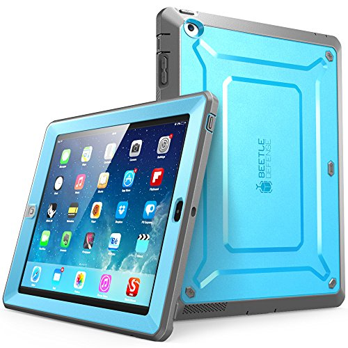 iPad 4 Case, SUPCASE [Heavy Duty] Apple iPad Case [Unicorn Beetle PRO Series] Full-body Rugged Hybrid Protective Case Cover with Screen Protector for the New iPad 3rd and 4th Generation(Blue/Black) (Best Case For Ipad 4 With Retina Display)