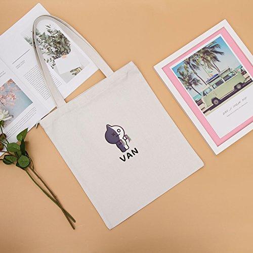 Yuxareen BTS Tote Messenger 8 Canvas Canvas Printed Bag Bag Bag Boys Kpop Bangtan Shoulder H02 ggf4Z5q