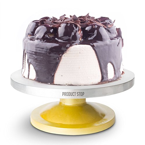 Amazing 360 Degree Rotating Cake Stand. The Perfect Pedestal Cake Decorating Turntable By Product Stop