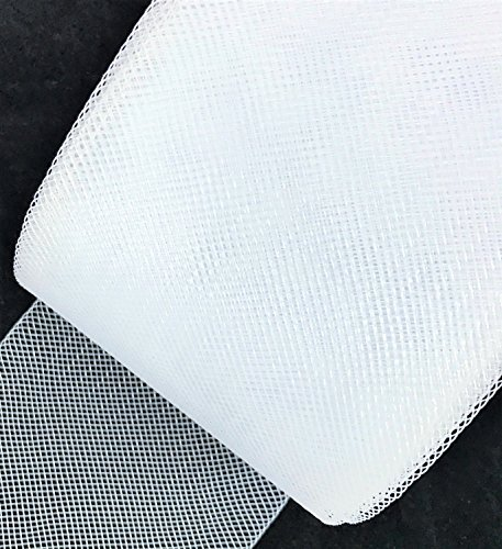 2inch wide Stiff Polyester White Horsehair Braid, selling per Roll 50Yards sewing888 4337014310