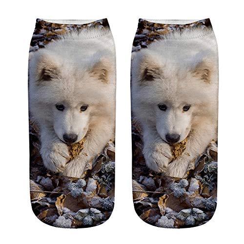 Clearance Unisex Socks, Christmas Cute Animals Funny Casual 3D Graffiti Printed Anklet Short Socks Gift OGDear