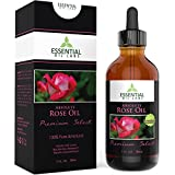 Essential Oils for Inflammation Rose Oil Absolute - Rosa Damascena - 100% Pure and Natural - Undiluted 1 fl ounce with Glass Dropper - Benefits for Mood, Skin and Immunity - The Perfect Gift - Premium Select by Essential Oil Labs