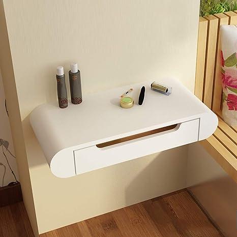 meet 1352b e5b86 Amazon.com: Floating Shelf White Bedside Vanity Dressing ...