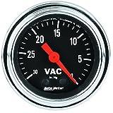 Auto Meter 2484 Traditional Chrome Mechanical Vacuum Gauge