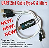 Original New UART 2in1 Cable Type-C Micro Repair for EFT Chimera FRP