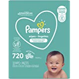 Pampers Baby Wipes, Pampers Complete Clean UNSCENTED 9X Pop-Top, Hypoallergenic and Dermatologist-Tested, 720 Count (Packagin