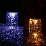 Kangkang@ Solar LED Decorative Glass Mason Jar Bottle Night Lights with Starry Effect for Garden Party Dinner Bedroom Decor (multi color changing)