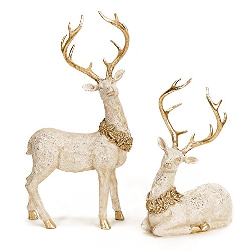 Price comparison product image Resin Deer w/ Holly (2)