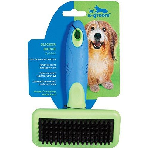 ugroom Slicker Brushes with Rubber Pins - Ergonomic Slicker Brushes for Dog Grooming - Large, 63/4 x 43/4 by (Ugroom Slicker)