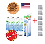 Zuma Refrigerator Water Filter to Replace Kenmore 46-9690 LG SGF-LA07 LT700P ADQ36006101 ADQ36006102 + Free Air Filters (6)