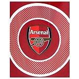 Official Arsenal FC Thin Fleece Blanket Bullseye