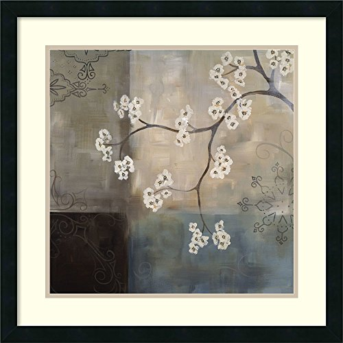Framed Art Print, 'Spa Blossom I' by Laurie Maitland: Outer Size 25 x 25'' by Amanti Art