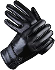 Men Leather Gloves Ulstar Touchscreen Winter Warm Texting Driving Gloves