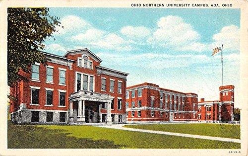 Ada Ohio Nothern University Campus Entrance Antique Postcard K15747