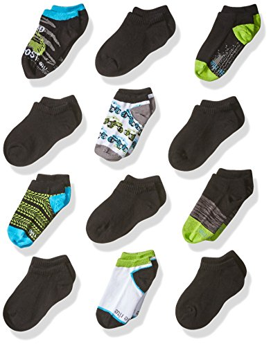 Stride Rite Boys Fun Fashion No Show Socks, Cotton Blend
