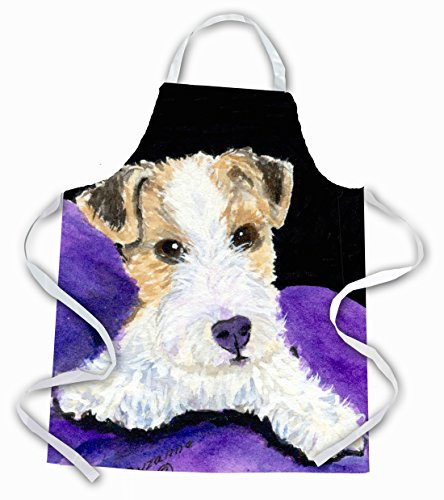 Caroline's Treasures SS8971APRON Fox Terrier Apron, Large, Multicolor