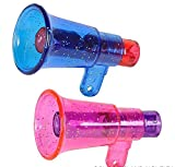 "1 Dozen 2"" Glitter Megaphone Whistle - Assorted Colors,Bulk Toys, Birthday Party Favors, New Years Party Noisemakers, Easter Egg Fillers, Party Accessory, Party Whistles, Prizes For Kids"