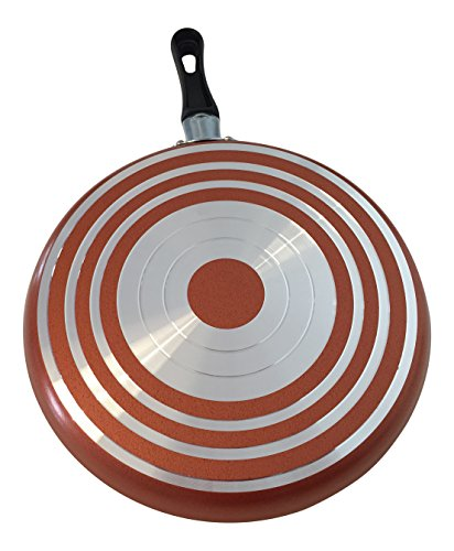 Large Crepe Pan 10 Inch Nonstick Coating and Bakelite Handle - Easy pancakes omelette fried eggs tortilla pancake pita bread Cookware - Best Crepes Pan Rounded Base durable by Maxi Nature Kitchenware (Image #2)