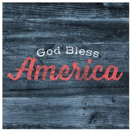 5-Pack God Bless CGSignLab Square Clear Window Cling 24x24