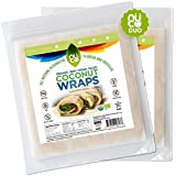 NUCO Certified ORGANIC Paleo Gluten Free Vegan Coconut Wraps, 10 Count (Two Packs of Five Wraps Each)