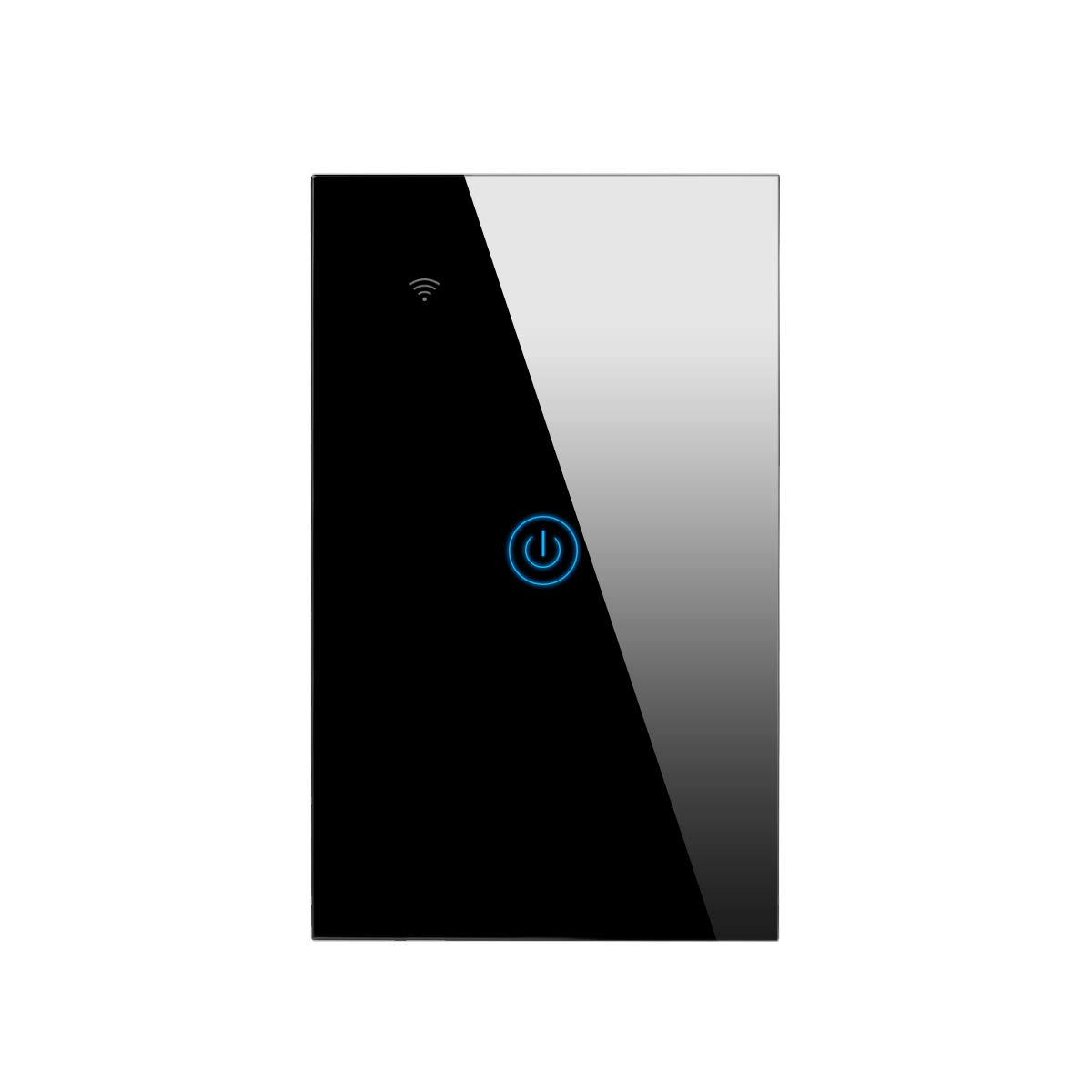 AIMENGTE Smart Homekit WiFi Touch Light Switch, Work with Apple Homekit, Siri Voice Control, Timer Setting, Neutral Wire Required 110-220V US Smart Home Touch Switches (1 Gang 1 Way, Black)