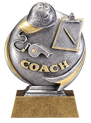 Etch Workz Gold- Silver Coach Award - 5