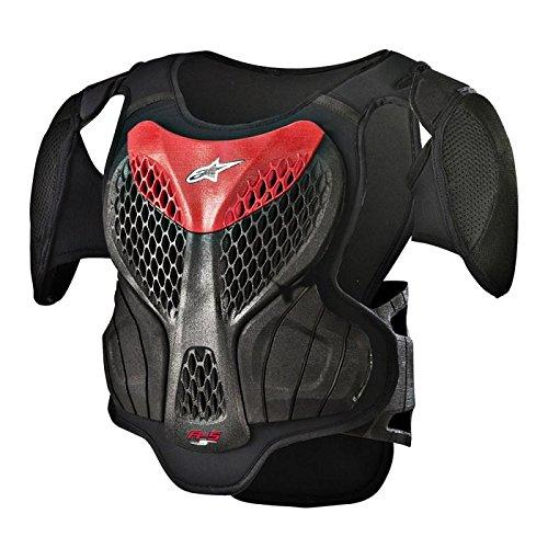 Alpinestars 6740518-13-L/X A-5 S Youth Body Armor, Size: Lg-XL, Distinct Name: Black/Red, Gender: Mens/Unisex, Primary Color: Black