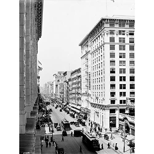 Broadway Eighth Street Los Angeles 1913 Photo Large Wall Art Poster Print Thick Paper 18X24 ()