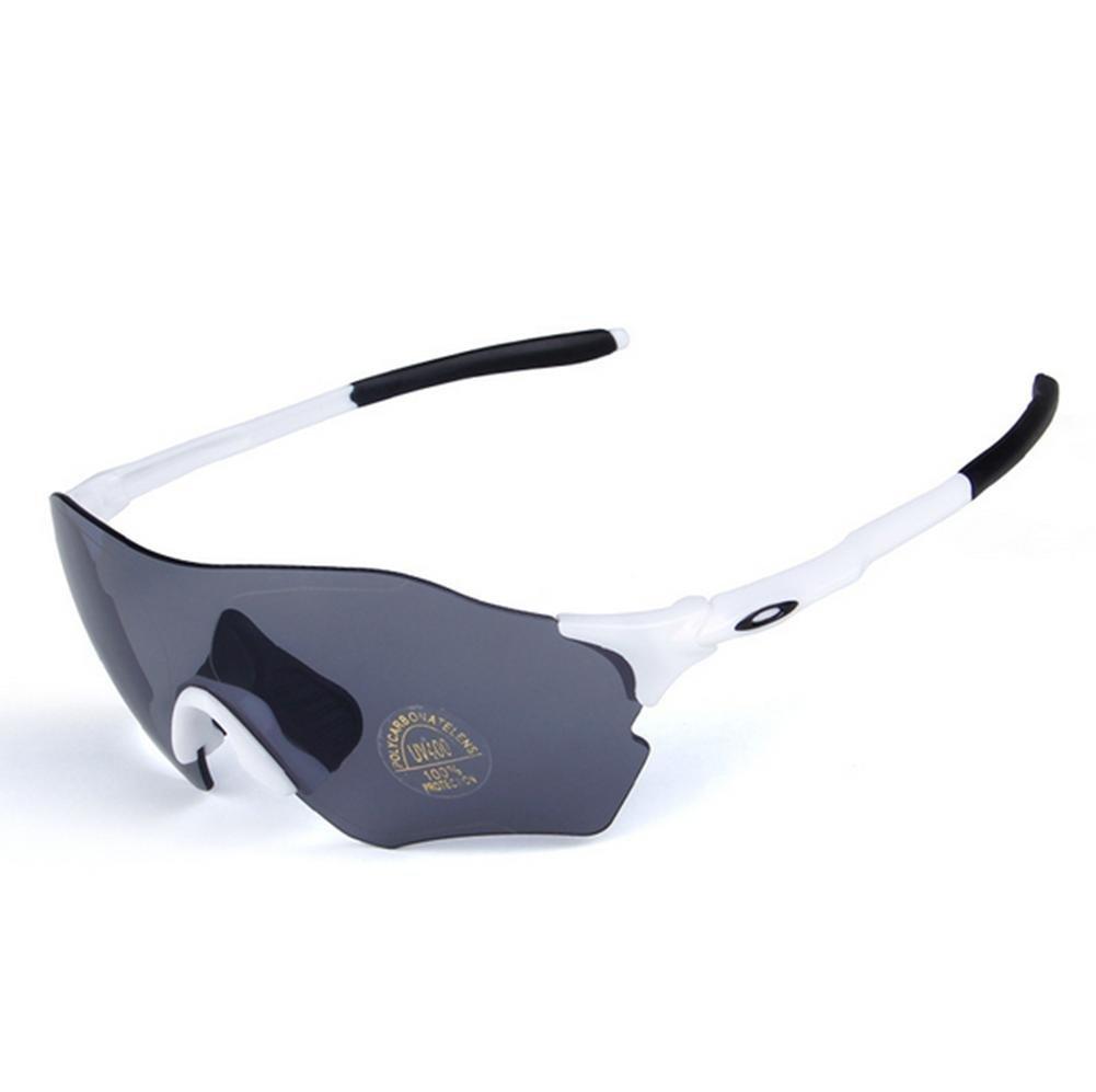 DZW Männer und Frauen Sport im freien Windschutzscheibe Goggles Schutzbrille Brille Sportbrille Reiten , Weiß schwarz + polarized lens