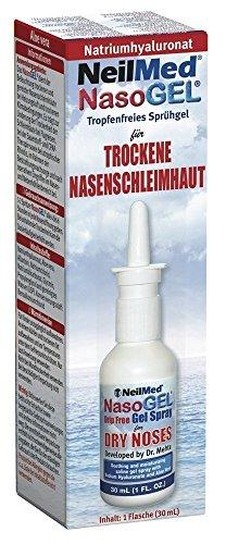 NeilMed Nasogel Drip Free Gel Spray, 1 Fluid Ounce (Pack of 3) (Water Soluble Saline Gel)