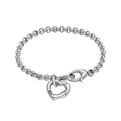 00d8f9326 Gucci YBA390138001017 Women's Bracelet Bamboo 925 Silver 17 cm: Amazon.co.uk:  Jewellery