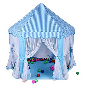 WESTLINK Princess Castle Play Tent House Indoor Outdoor Toy 56 x 54 inches Blue