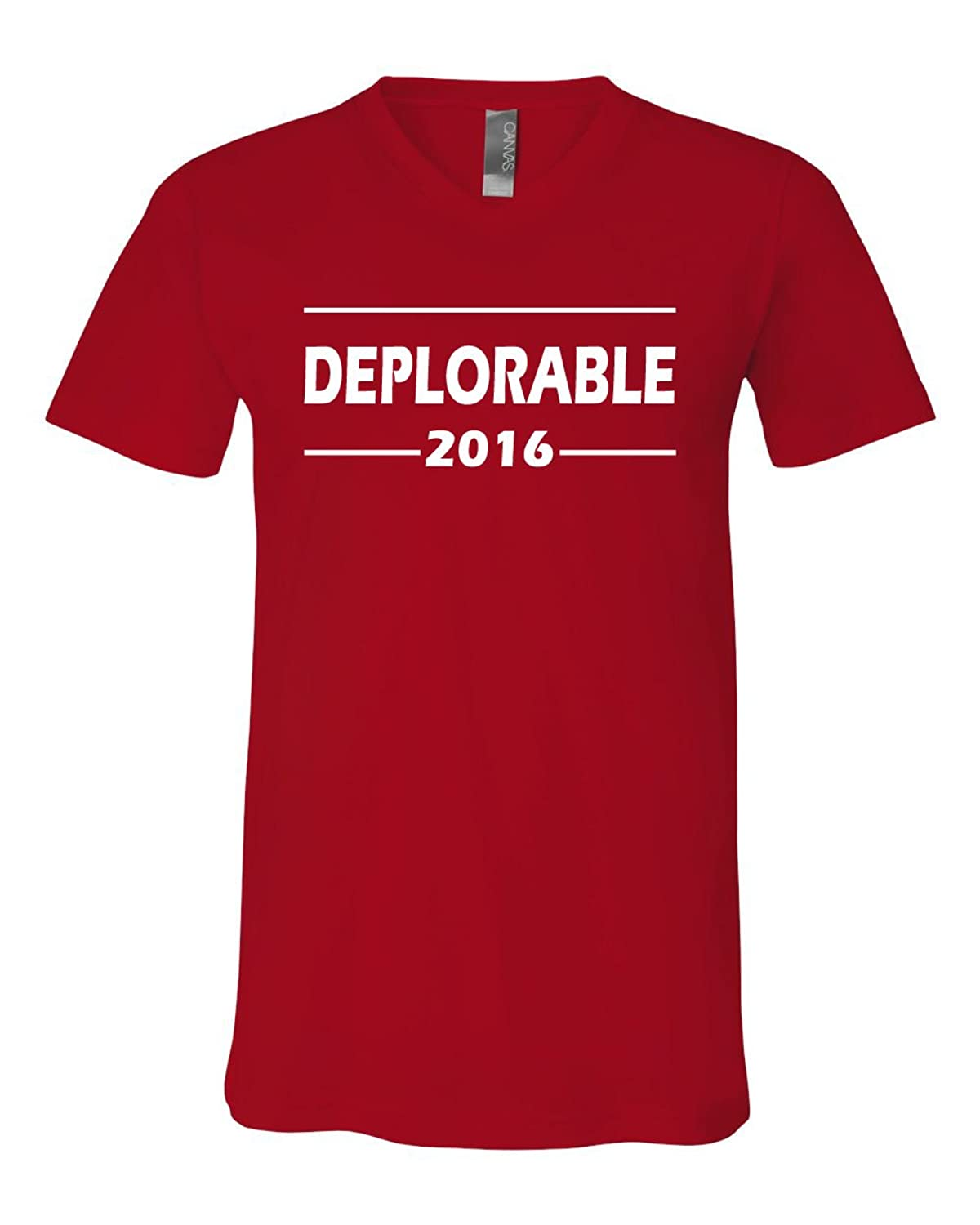 Deplorable 2016 Donald Trump V-Neck T-Shirt The Deplorables Tee