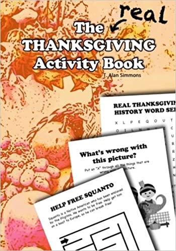the real thanksgiving activity book t alan simmons 9781546415091