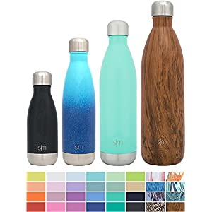 Simple Modern 9oz Wave Kids Bottle - Vacuum Insulated Double Wall 18/8 Stainless Steel Hydro Water S'well Flask - Midnight