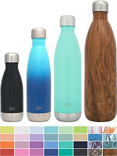 Simple Modern 9oz Wave Kid's Water Bottle - Vacuum Insulated Double Walled Boys 18/8 Stainless Steel Black Hydro Swell Leak Proof Flask - Midnight Black