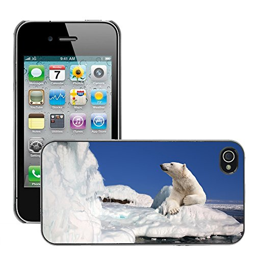 Premio Sottile Slim Cassa Custodia Case Cover Shell // V00002189 Ours polaire // Apple iPhone 4 4S 4G