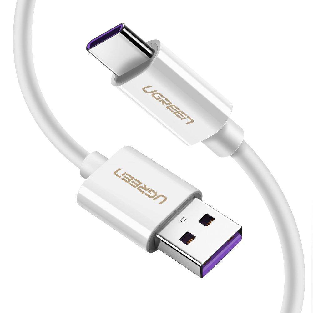 Cavo Ricarica Rapida Cavo USB Tipo C USB Type C per Huawei P30 P20 Pro P20 Lite P20 P10 P10 Plus Mate 20 Pro Mate 20 Mate 10 Pro Honor 10 9 V10 UGREEN Cavo USB C 5A per Huawei SuperCharge etc. 1M
