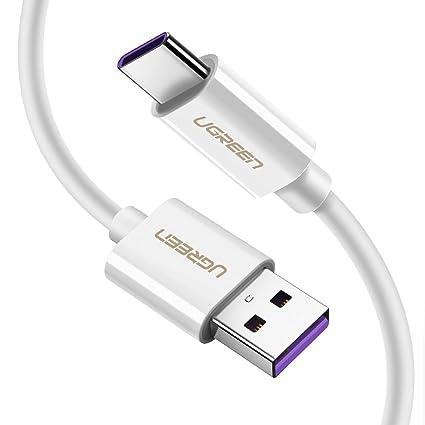 UGREEN Cable USB C Carga Rápida, Cable USB Tipo C 4.5V 5A 22.5W SCP FCP Super Charge Cargador para Huawei P20 Lite P10 P10 Plus P30 Pro P30 P20 Pro ...