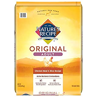 Nature's Recipe Adult Dry Dog Food, Chicken Meal & Rice Recipe, 15 Pounds