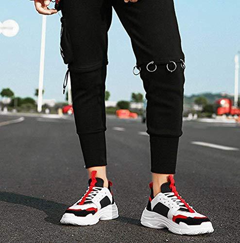 Rétro Hommes Décontractées Oudan Respirant Taille Pour Chaussures Sport 40eu Rouge Rouge coloré Mesh fpnqXqEZwI
