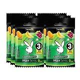 Playboy Condoms MaxSens Tropicana mix 6 paquetes con 3 condones + 1 gratis c/u