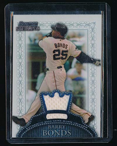 (BARRY BONDS 2005 BOWMAN STERLING GAME JERSEY *SAN FRANCISCO GIANTS* )