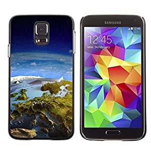 Plastic Shell Protective Case Cover || Samsung Galaxy S5 || Earth Panorama Landscape View Space Europe @XPTECH